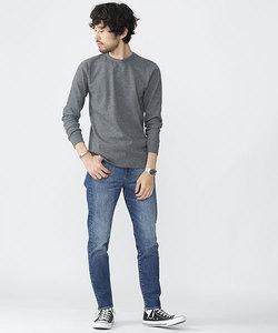 ワッフルラウンドヘムTシャツ LS
