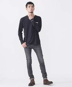 WEB限定/∴別注プリントポケットTシャツ LS