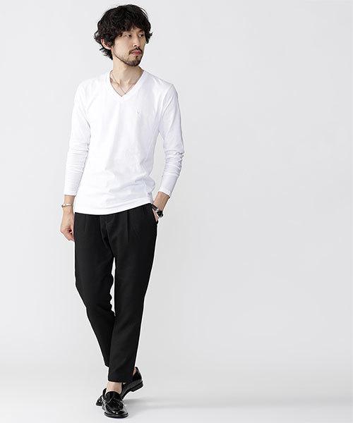 ∴別注VネックTシャツ LS
