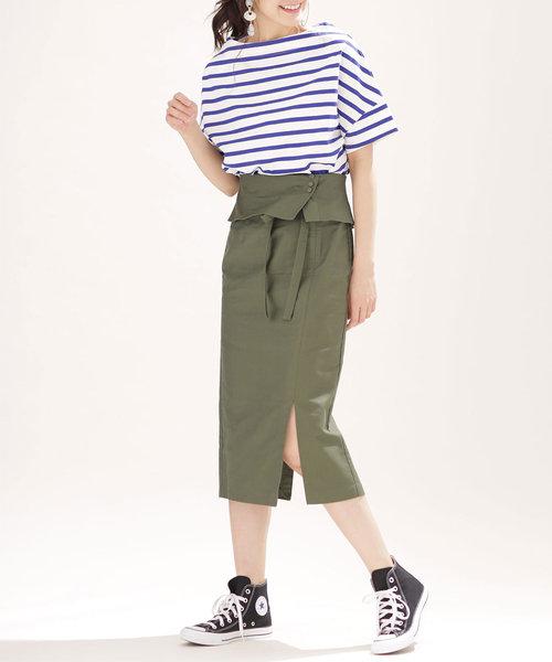【InRed 5月号掲載】ラップベルト風スカート