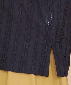 【SPRiNG 10月号掲載】ストライプ刺繍ボリュームスリーブブラウス