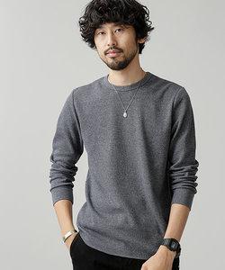 ワッフルラウンドTシャツL/S