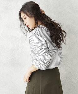 【WEB限定】スキッパーボリュームシャツ