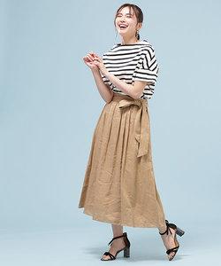 【with 8月号掲載】【STORY 7月号掲載】フレンチリネンギャザースカート
