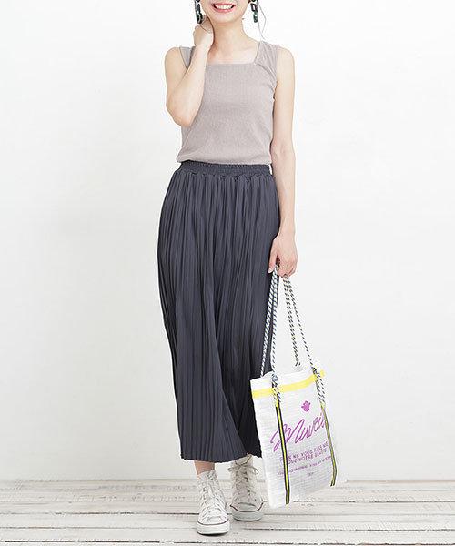 【WEB限定】スクエアネックタンク×プリーツスカート セットアップ