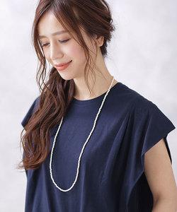【WEB限定】小粒パールライクネックレス&ブレス2way