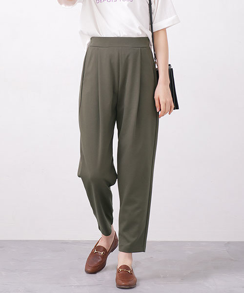【WEB限定】カットポンチくるぶし丈パンツ