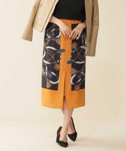 ロープ柄スカーフプリントスカート