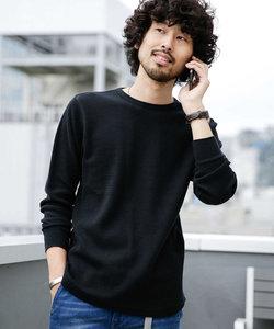 ジャガードワッフルロングスリーブTシャツ