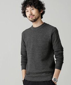 【WEB限定】シルケット鹿の子編みクルーネックニット