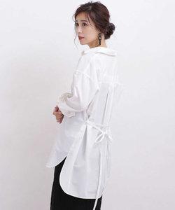 【WEB限定】ベルト付ロングシャツ