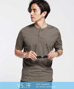 《汗染み防止》Anti Soaked ヘビーヘンリーネック Tシャツ_