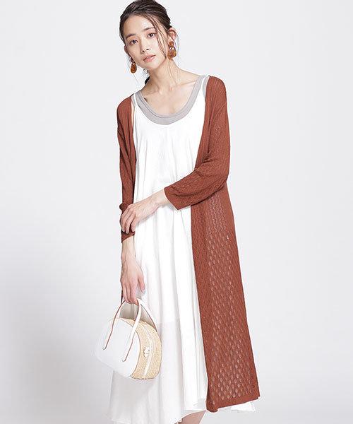 透かし 編み ニット