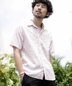 《WEB限定》フレンチリネン総柄シャツ/半袖