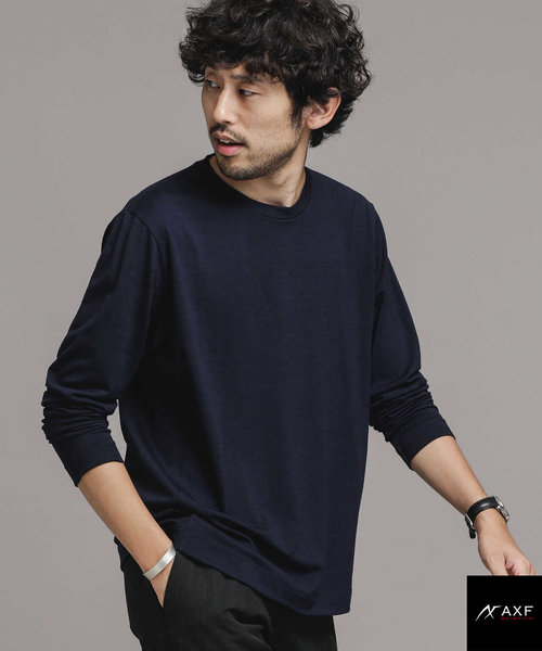 AXF feat ITALY WOOL ドレスTシャツ 長袖