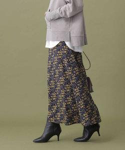 フラワープリントマキシスカート