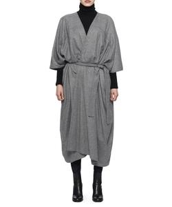 オーバーサイズバスローブコート