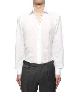 """""""BLACK LABEL""""コットン&リネンストライプシャツ"""