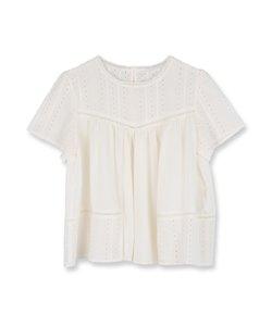 刺繍レースシャツ