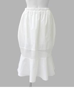 ナイロンメッシュ切替スカート