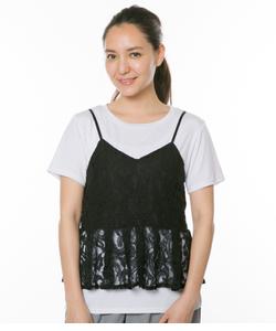 レースキャミ+Tシャツセット