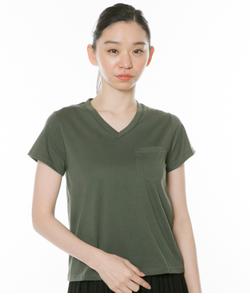 VネックコインポケットTシャツ