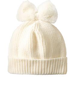 ニット帽(ファーリボン)