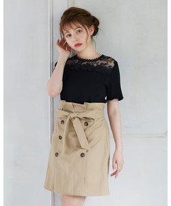 サッシュ付トレンチ スカート