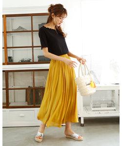 シフォン楊柳 ロングスカート