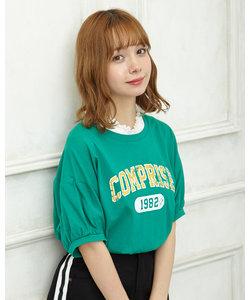 カレッジロゴTシャツ&HNレーストップス セット