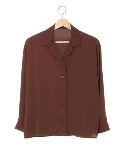 オープンカラートロミ長袖 シャツ