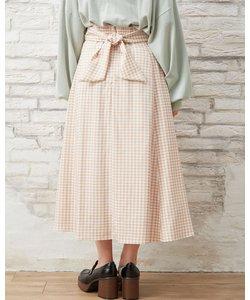 Backリボンフレア スカート