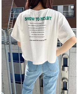 カラー2段ロゴTシャツ