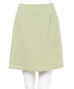 リネンライク台形ミニ スカート