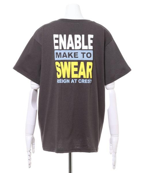 BackロゴTシャツ