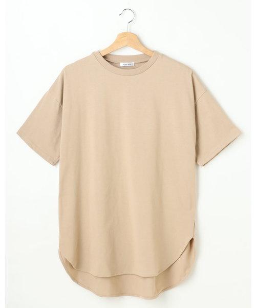 ラウンドヘムチュニックTシャツ