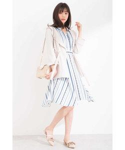 パッチストライプシャツドレス
