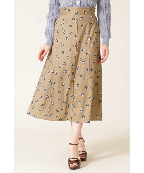 |CanCam 11月号掲載||美人百花 10月号掲載|◇ミニフローラルサテンジャガードスカート