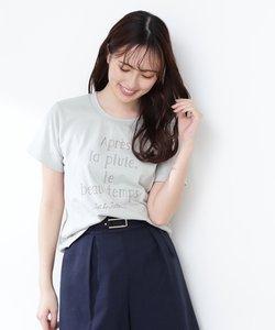 |美人百花4月号掲載商品|フレンチロゴTシャツ