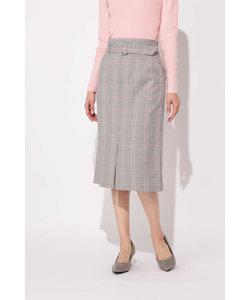 スプリングチェックストレートスカート