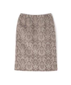 オーナメントジャガードタイトスカート