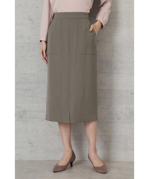 [洗える]ダブルサテンスカート