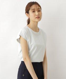 オーガニックコットンレンチスリーブ刺繍ロゴTシャツ