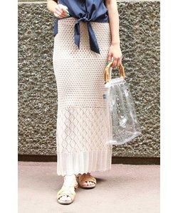 ◆透かし編みニットスカート