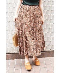 ◆レオパード変形プリーツスカート
