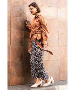 ◆レオパードジャガードスカート