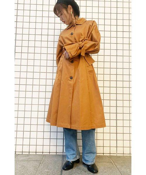 ◆ヨークフレアラインステンカラーコート