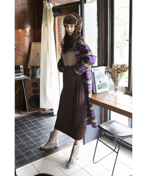 ◆サイドプリーツIラインスカート