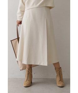 ◆ダブルジョーゼットノーシームフレアースカート