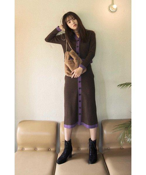 ◆バイカラーリブペンシルスカート